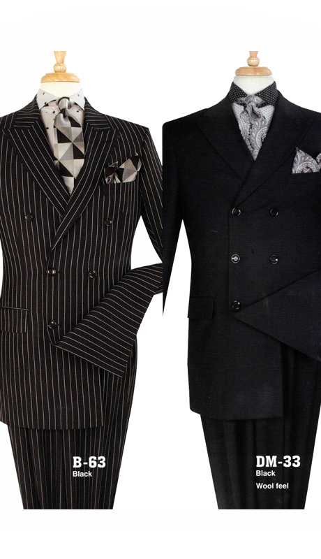 Iconic B-63 ( 2pc Mens Suit With Double Breasted Jacket And Double Pleated Pants )