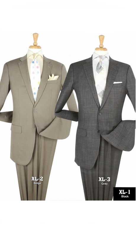 Iconic XL-2 ( 2pc Mens Extra Long Suits With Flat Front Pants )