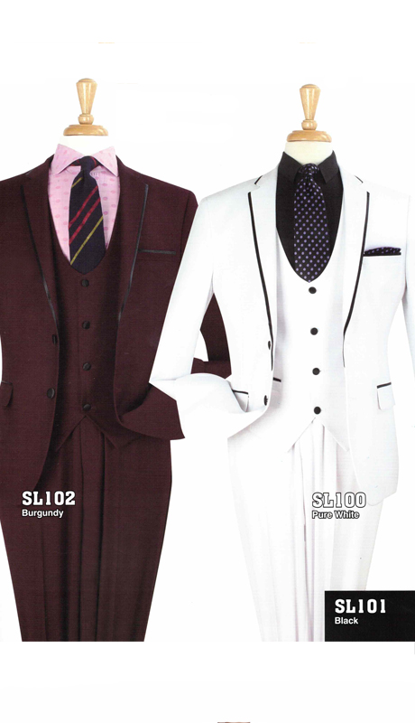 Iconic SL102 ( 3pc Luxury Mens Suit )