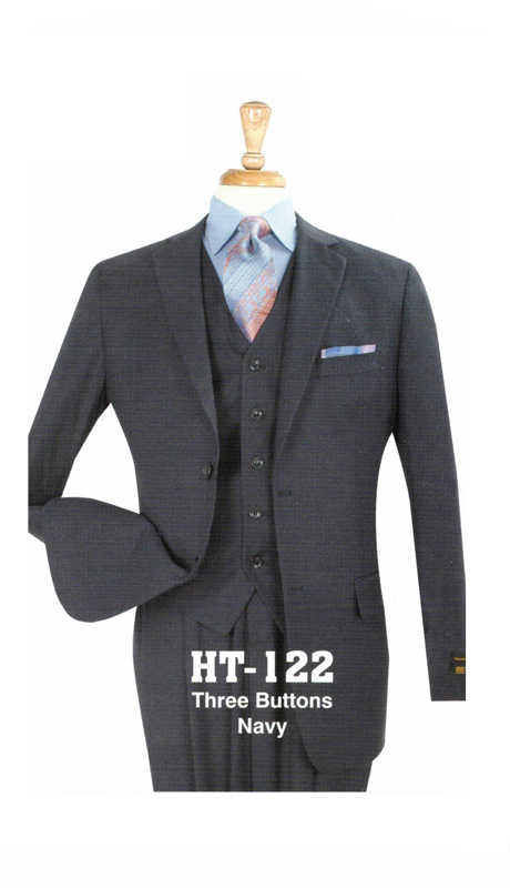 Iconic HT-122 ( 3pc Three Button Mens Suit )