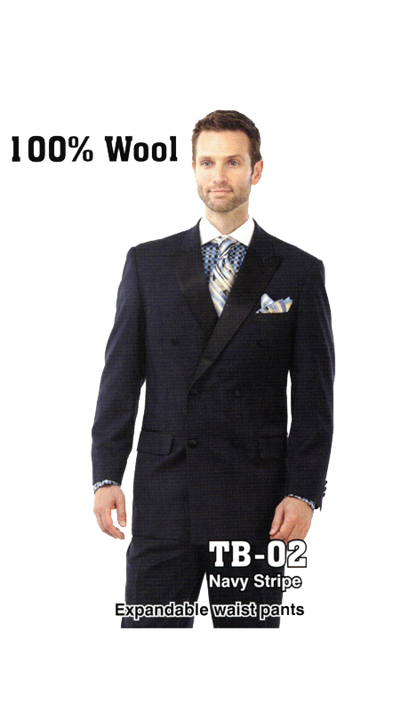 Iconic TB-02 ( 2pc Mens Suit With Expandable Waist Pants )