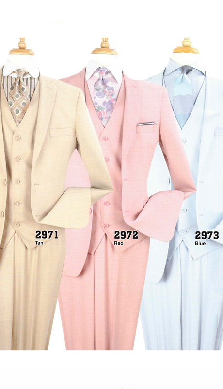 Iconic 2971 ( 3pc Luxury Mens Suit )