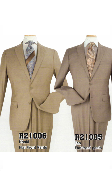 Iconic R21005 ( 2pc Mens Suits With Flat Front Pants )
