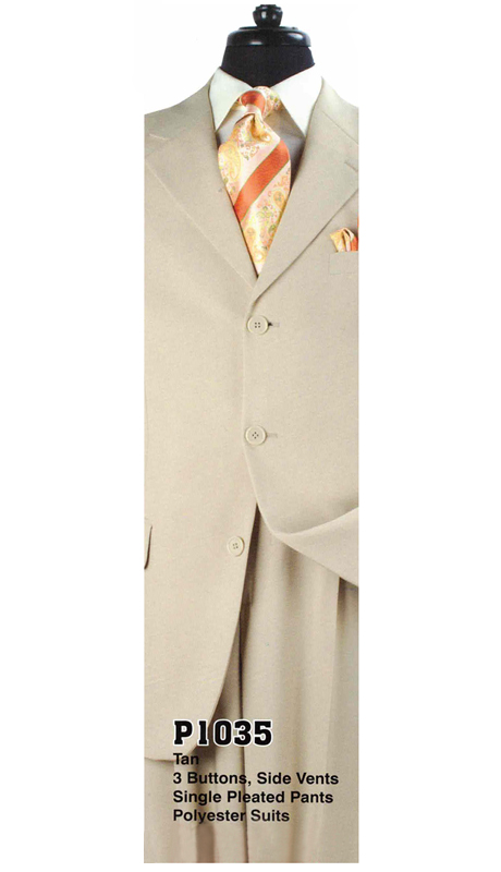 Iconic P1035 ( 2pc Mens Suit With 3 Buttons, Side Vents, And Pleated Pants )