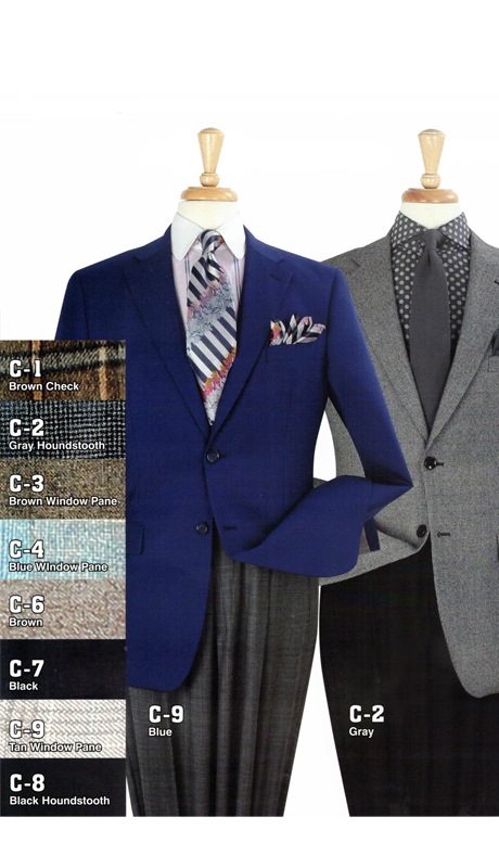 Iconic C-9 ( 1pc Double Breasted Sports Coat, Super 150's )