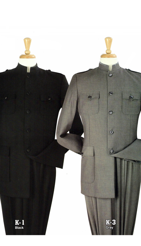 Iconic K-1 ( 2pc Nine Buttons Nehru Style With Semi Wide Leg Pants )