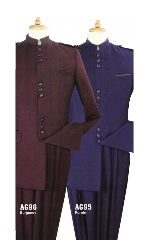 Iconic AG96 ( 2pc Nine Buttons Nehru Style With Semi Wide Leg Pants )