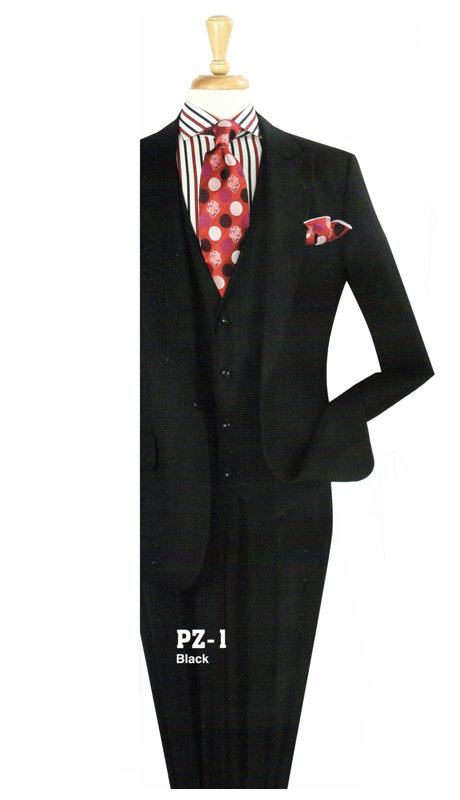 Iconic PZ-1 ( 3pc Suit With Notch Lapel, Side Vents And Vest )
