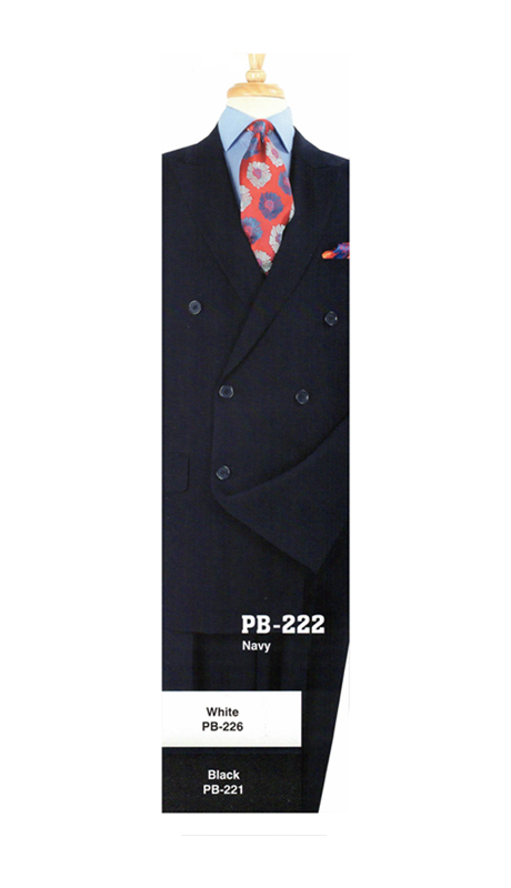 Iconic PB-222 ( 2pc Double Breasted Suit With Flat Front Pants )