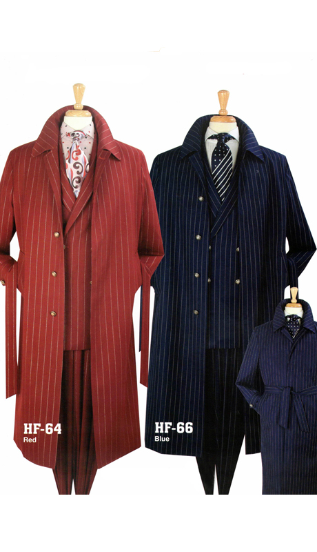 Iconic HF-64 ( 3pc Luxury Double Breast Suit With Coat, Super 150's )