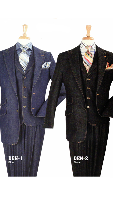 Iconic DEN-1 ( 3pc High Fashion Denim Suit )