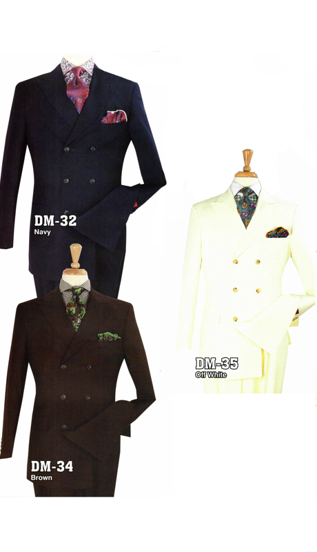 Iconic DM-32 ( 2pc Double Breasted Suit With Flat Front Pants, Super 130's )
