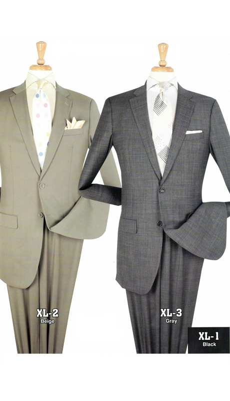Iconic XL-2 ( 2pc Extra Long Suits With Flat Front Pants, Super 150's )