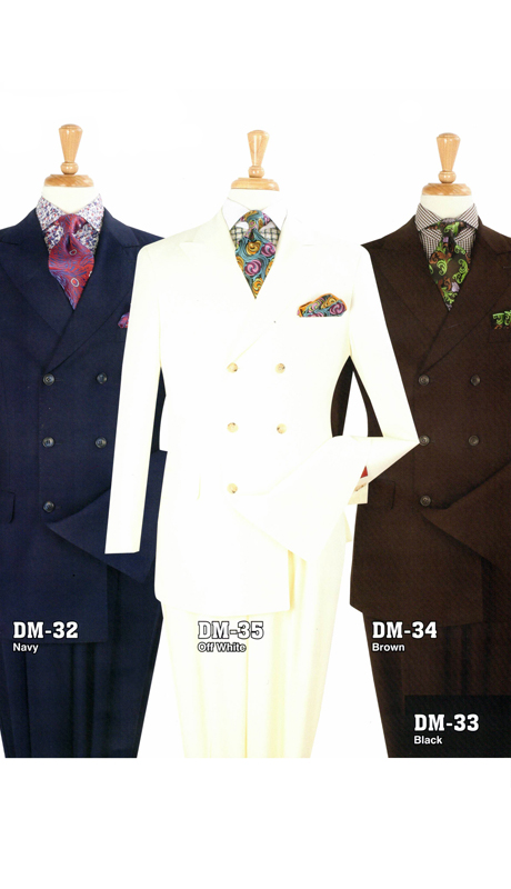 Iconic DM-32 ( 2pc Double Breasted Suit With Side Vents And Double Pleated Pants )