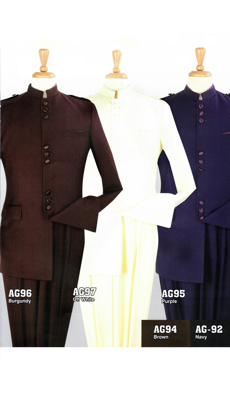 Iconic AG93-CO ( 2pc Nine Buttons Nehru Style With Semi Wide Leg Pants )