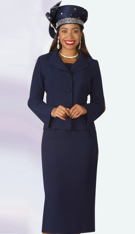 Lily And Taylor 4063-NA-IH ( 2pc PeachSkin Ladies Sunday Suit With Notch Lapels )