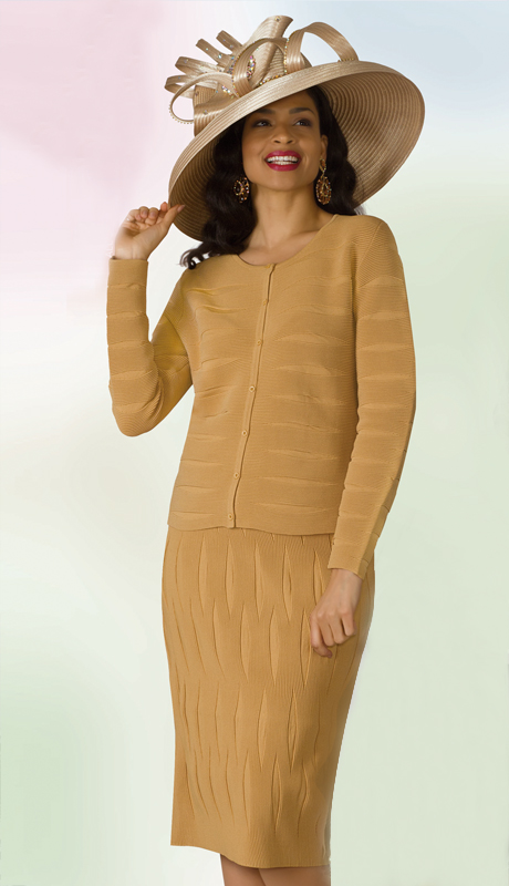 Lily And Taylor 618-GO ( 2pc Knit Ladies Sunday Suit )