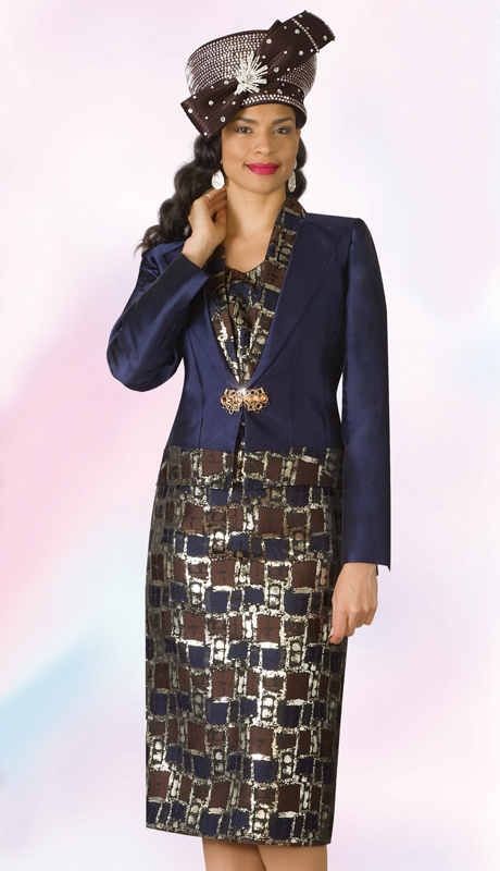 Lily And Taylor 4175-NM ( 3pc Novelty Womens Church Suit )