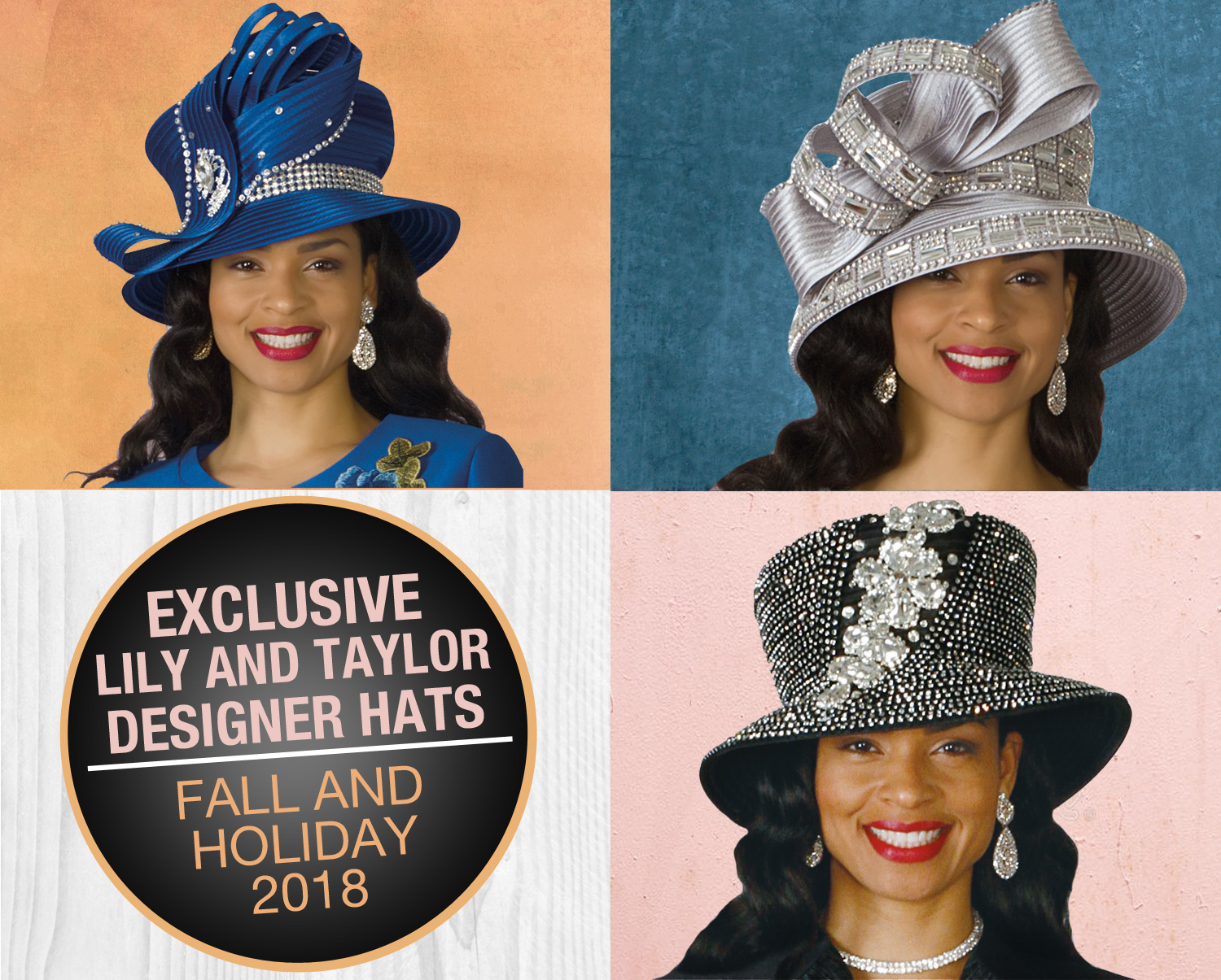 Exclusive Designer Lily And Taylor Hats Spring And Summer 2018