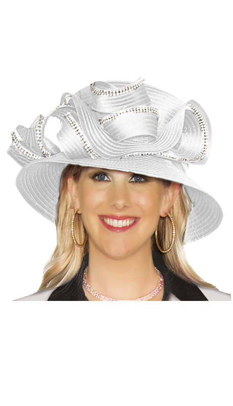 Lily And Taylor Hat 332-WHT