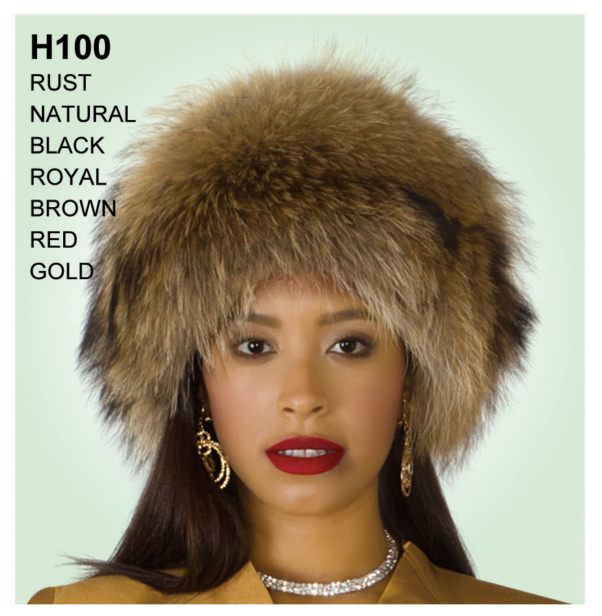 Lily And Taylor Genuine Fox Fur Hat H100-NA