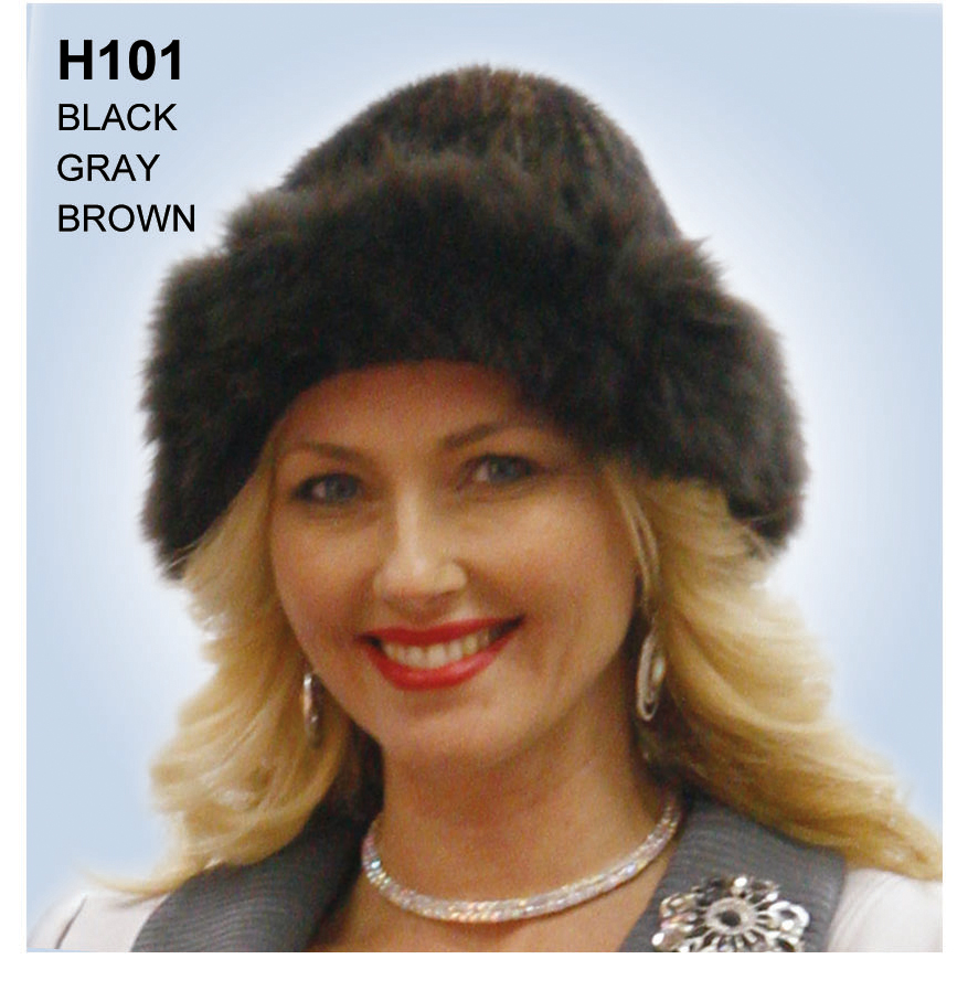 Lily And Taylor Genuine Fox Fur Hat H101-BR