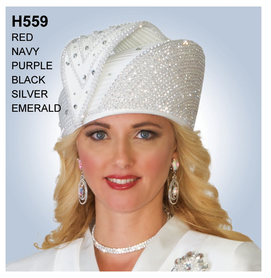 Lily And Taylor Hat H559-WH