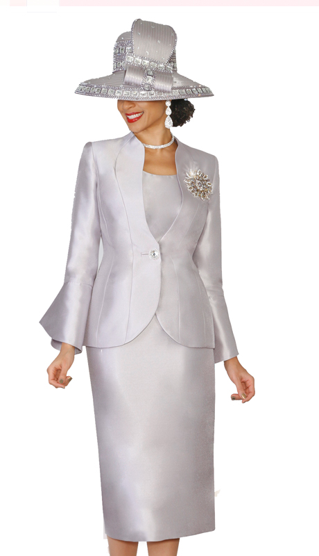Lily & Taylor 4140- SI ( 3pc Exclusive Silk Suit With Vented Cuff Sleeves For Church )