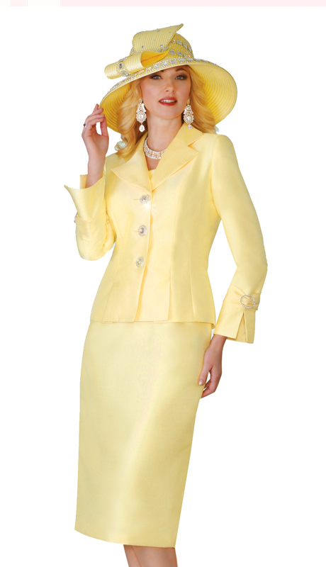 Lily & Taylor 4096 ( 2pc Exclusive Silk Church Suit )