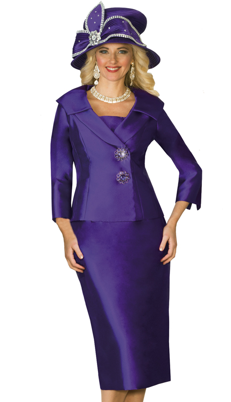 Lily & Taylor 3961-CO ( 2pc Exclusive Ladies Church Suit With Rhinestone Buttons )