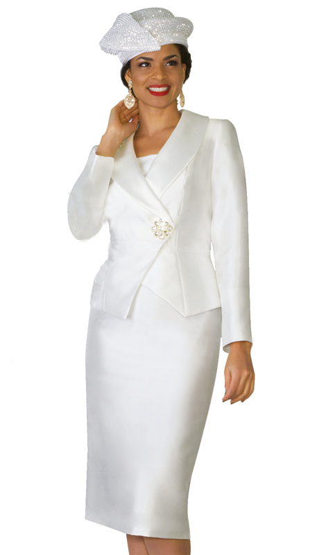 Lily & Taylor 4037 ( 2pc Exclusive Ladies Church Suit With Rhinestone  Clasp )