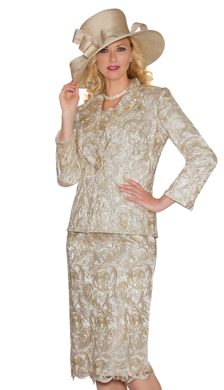 Lily & Taylor 3813 ( 3pc Lace Skirt Suit For The First Lady )