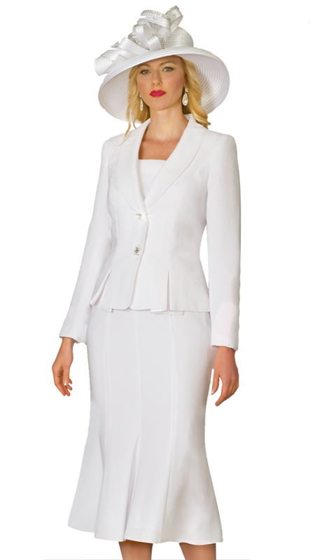 Lily & Taylor 2834-W-CO( 2pc Women Church Suit With Rhinestone Buttons )