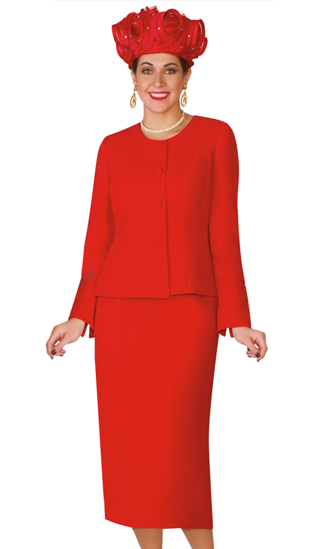 Lily & Taylor 2920-RD ( 2pc Exclusive Women Church Suit For the First Lady )