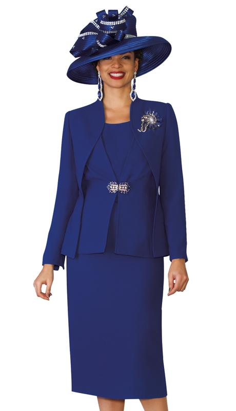 Lily & Taylor 3936 ( 3pc Ladies Church Suit With Rhinestone Clasp And Brooch )