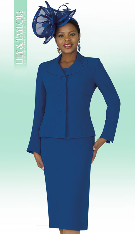 Lily And Taylor 4063-RO-IH ( 2pc PeachSkin Ladies Sunday Suit With Notch Lapels )