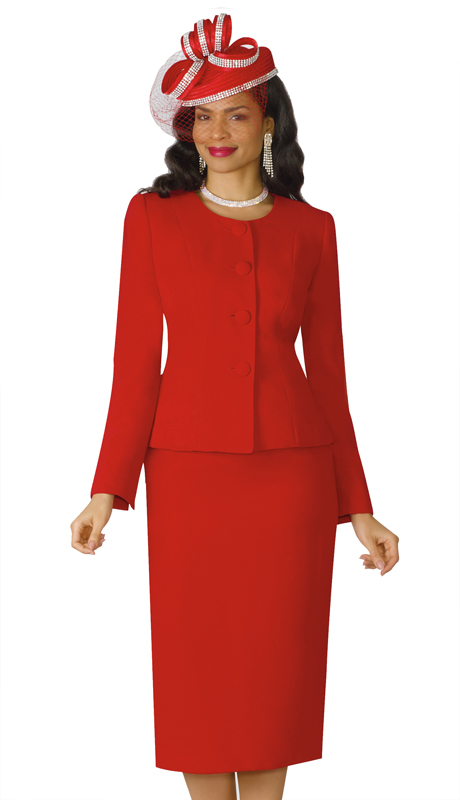 Lily And Taylor 2920-RE-IH ( 2pc PeachSkin Ladies Church Suit )