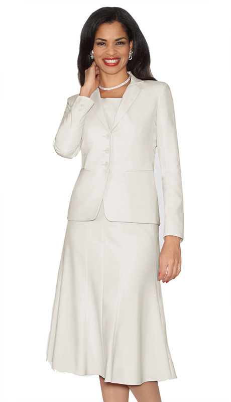 Lily And Taylor 3999-OW ( 3pc PeachSkin Womens Church Suit )