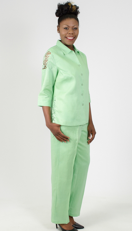 NCS-4583-IH-MI ( 2pc Linen Pant Set )