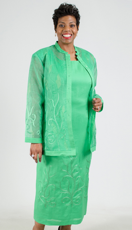 NCS-121563-IH-KG ( 2pc Linen Jacket With Dress )
