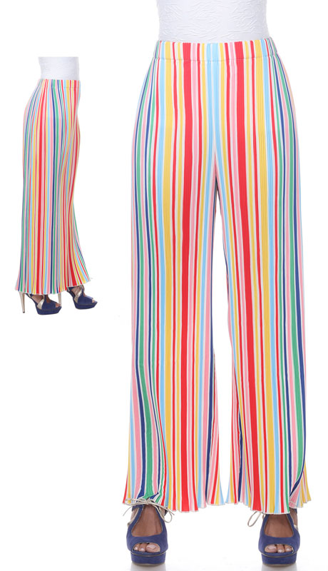 Love The Queen 17270-MU ( 1pc Wide Stripe Multi Color Pant )