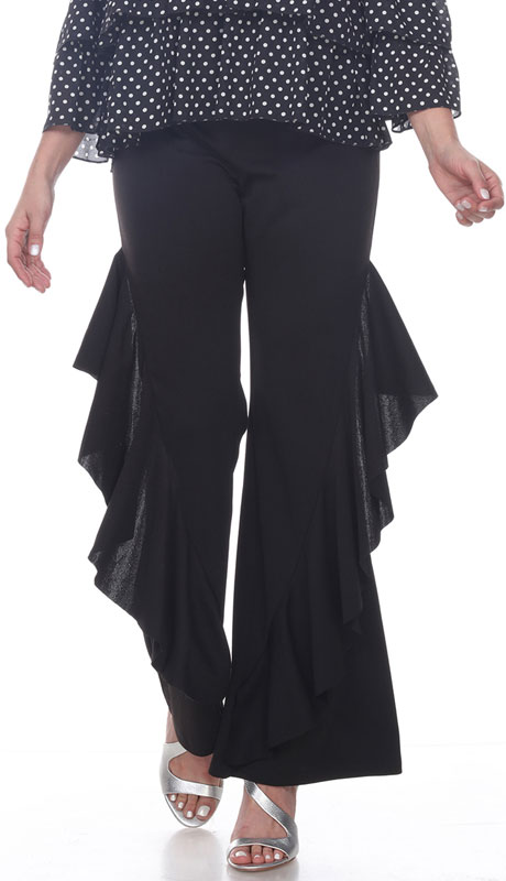 Love The Queen 17272-BL ( 1pc Side Ruffle Pant )