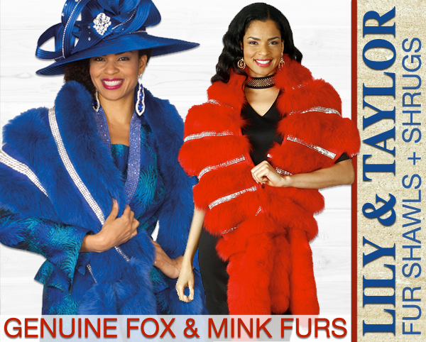 Genuine Fox And Mink Furs By Lily And Taylor Fall 2018