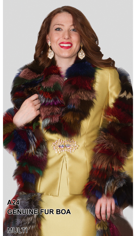 Lily And Taylor A24-MU ( Limited Edition Genuine Fur Boa )