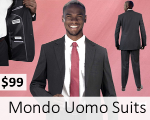 Italian Designed Mondo Uomo Mens Suits 2018