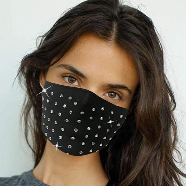 FM-107-Dottie ( 1pc Designer Face Mask With Modern Stone Pattern And Adjustable Earl Loops )