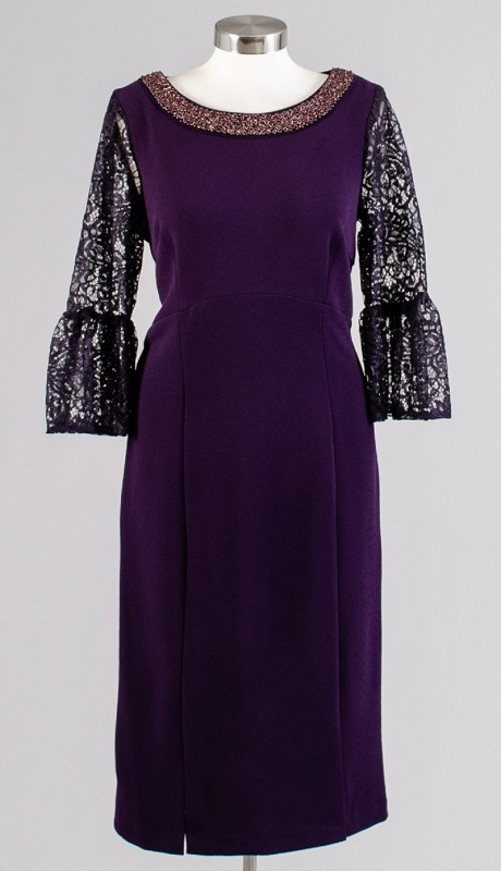 Maya Brooke 26934 ( 1Pc Dress Leopard Lace Silver )