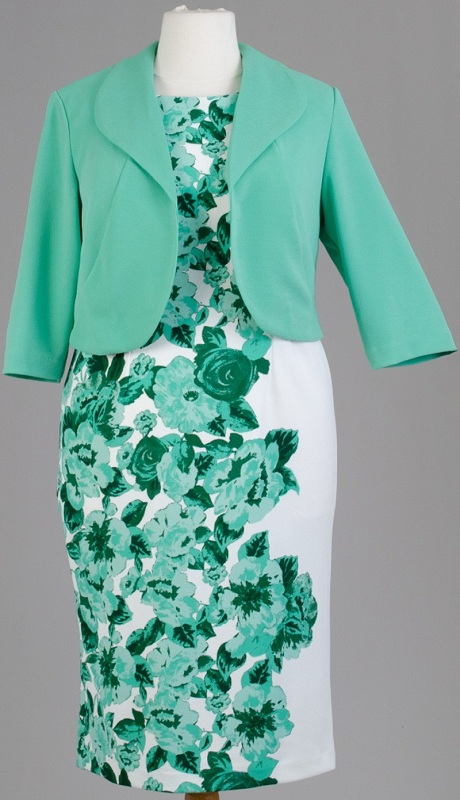 Maya Brooke 27704 ( 2 Pc Jacket Dress With Floral Print )