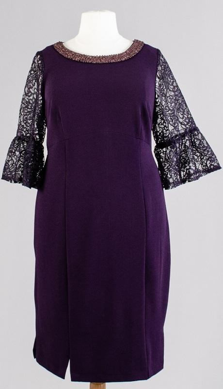 Maya Brooke 27934 ( 1 Pc Dress Lace Silver )