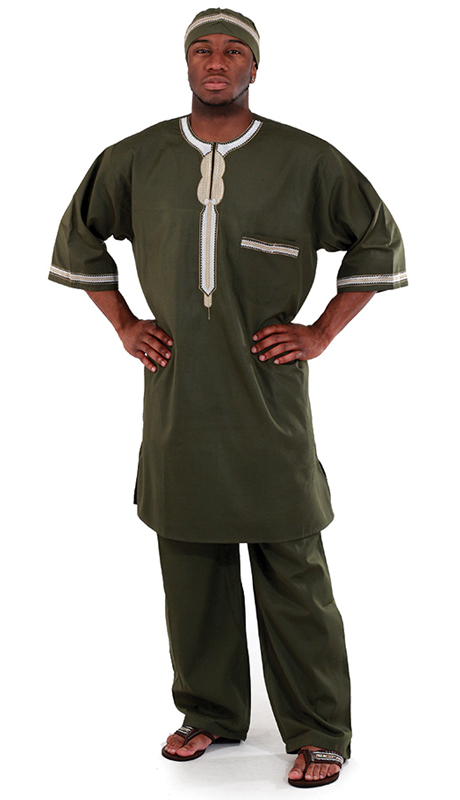 Heritage C-MO83-OL ( 2pc Mens Luxury Pant Set With Kufi Hat )